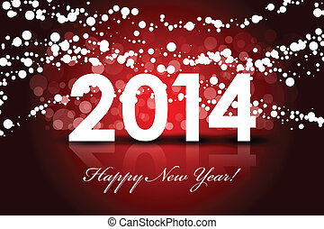 Happy New Year red background