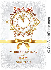 Merry Christmas and Happy New Year - Vector Merry Christmas...