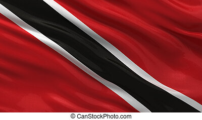 Flag of Trinidad and Tobago waving in the wind