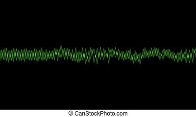 Green audio line wave