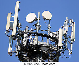 cable and radar and antennas for signal repetition of mobile telephony and television signals