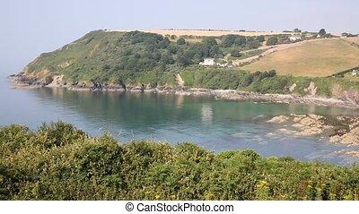 Talland Bay Cornwall near Looe UK - Talland Bay between Looe...