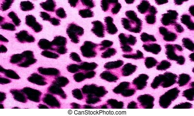 Pink animal print - Leopard printed fur background in pink...