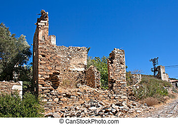 Old abandoned GreekTurkish village of Doganbey, Turkey - Old...