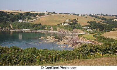 Talland Bay near Polperro Cornwall - Talland Bay between...