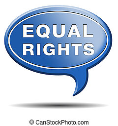 equal rights and opportunities for all women man disabled...