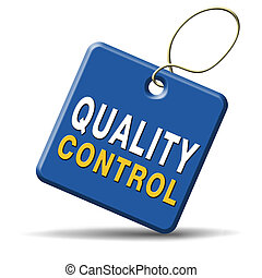 quality control - Quality control label 100% guaranteed...