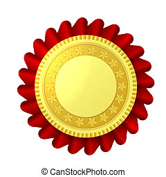 Red and gold rosette