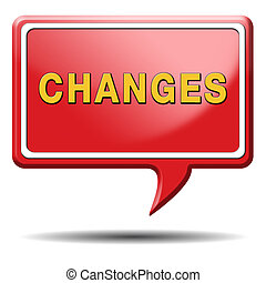 changes ahead going different direction change and...