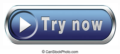 try now - Try now button or icon free trial