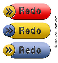 redo button - Redo or refresh button