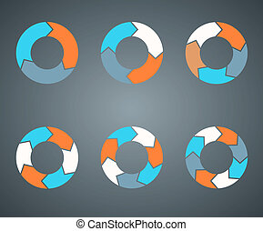 Circle arrows template for your business project - Layout...