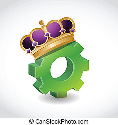 king of the industry. concept illustration design