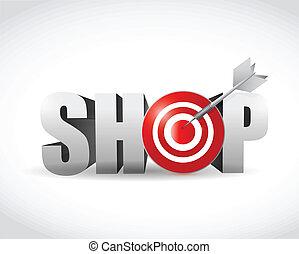 shop target symbol sign illustration design