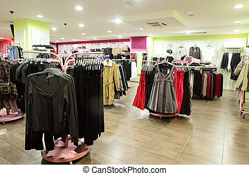 european clothing store with huge collection - european...
