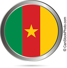 Cameroon flag button.