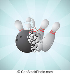 Cartoon bowling - Vector illustration of cartoon bowling...