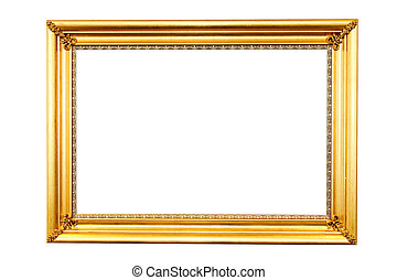 Golden frame - Shinny frame in pure gold clipping path...