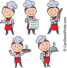 Kids chefs. Contains transparent objects. EPS10