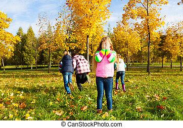 Hide and seek game - Kids play hide and seek with girl...
