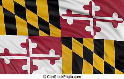 3D Maryland Flag - Rendering of flag of the US state of...