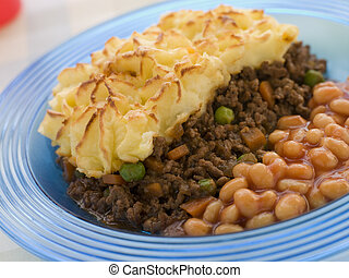 Cottage Pie and Baked Beans