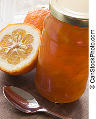 Jar of marmalade