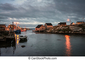Sunrise Peggys Cove - First light of morning at Peggys Cove...