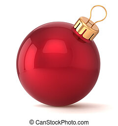 Christmas ball New Years Eve bauble decoration red...