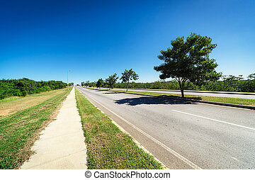 road on a sunny day