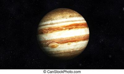 Jupiter - Digital Illustration of Planet Jupiter