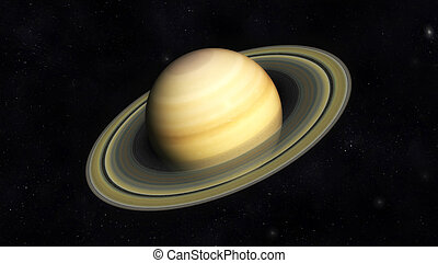 Saturn - Digital Illustration of Planet Saturn