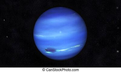 Neptune - Digital Illustration of Planet Neptune