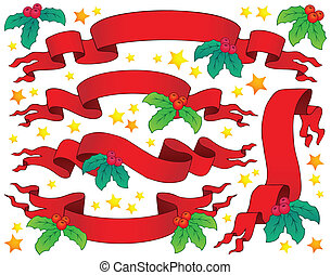 Christmas banners collection 5 - eps10 vector illustration