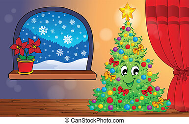 Christmas indoor theme 1 - eps10 vector illustration.