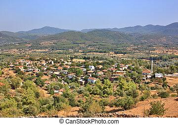Mediterranean village in Bodrum, Turkey