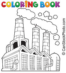 Coloring book factory theme 1 - eps10 vector illustration.