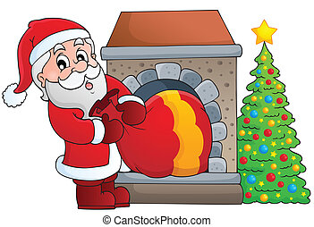 Santa Claus theme image 7 - eps10 vector illustration