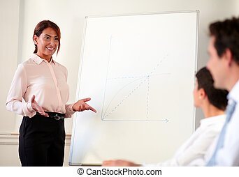 Female executive working on her presentation - Portrait of a...