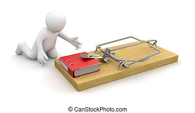 Man and Mousetrap with Document