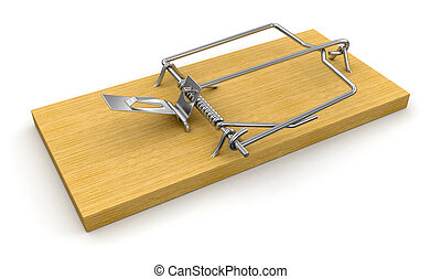 Mousetrap. Image with clipping path