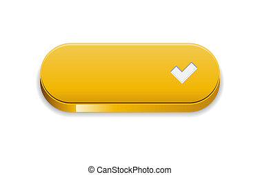 The yellow accept button - The accept yellow button with...