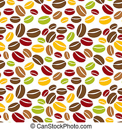 The coffee beans background - The background made out of...