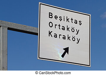 Traffic Sign in Istanbul