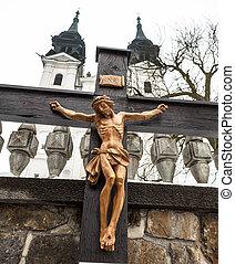 crucificação, Jesus, bom, sexta-feira,...