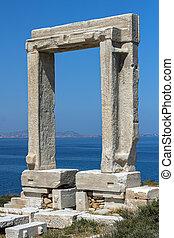 Apollo Temple entrance, Naxos island, Cyclades