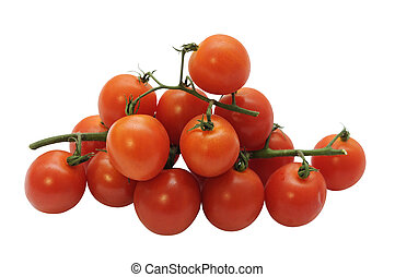 Stack of cherry tomatoes - A stack of ripe cherry tomatoes...