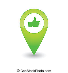 Map pointer with an icon - An isolated map pointer with an...