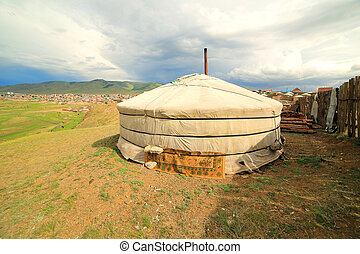 Poor households in outskirts of Ulaanbaatar, Mongolia