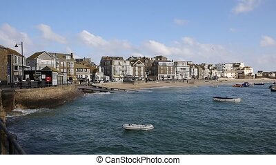 St Ives Cornwall England harbour - St Ives Cornwall England...